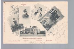CROATIA Zagreb Multiview 1902 OLD POSTCARD 2 Scans - Croatia