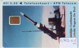 Nederland CHIP TELEFOONKAART * CRD-518.02 * ARMEE AIRFORCE * Telecarte A PUCE PAYS-BAS * Niederlande ONGEBRUIKT * MINT - Leger