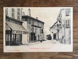 MONTMERLE SUR SAONE (01) Arrivée Du Train Tramway - Autres Communes