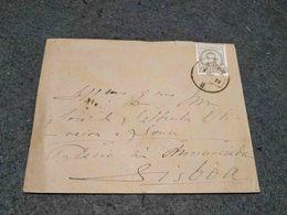 PORTUGAL CIRCULATED COVER LISBOA CANCEL 1884 - Cartas