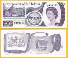 St Helena 50 Pence P-5 1979 UNC - Saint Helena Island