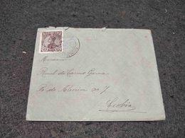 RARE PORTUGAL CIRCULATED COVER SANTO IZIDORO CANCEL TO MAFRA 1910 - Lettere
