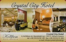 GRECIA KEY HOTEL Crystal City Hotel  ATENE - Hotel Keycards