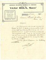 46  CAHORS  BIERE BLONDE  LIMONADES SODA  VICTOR ROUX   -  LETTRE COMMERCIALE POUR PENNE 1934 - Alimentaire