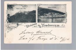 CROATIA Un Saluto Da Moschienizze Mošcenice1900 Litho OLD POSTCARD 2 Scans - Croatia