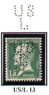 Perforé France Type Pasteur N° 171 Roulette Perf Ref Ancoper USL 13 - France