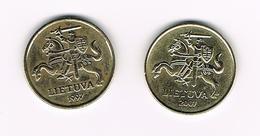 &   LITOUWEN  2 X 20   CENTU  1997/2007 - Lituanie