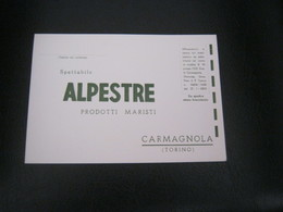 CARTOLINA ALPESTRE -CARMAGNOLA - Etiketten