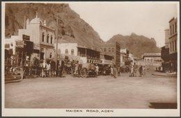 Maiden Road, Aden, C.1920s - Benghiat RP Postcard - Yemen