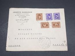 EGYPTE - Enveloppe Commerciale Du Caire Pour La France En 1937 , Affranchissement Bicolore - L 18477 - Egypt