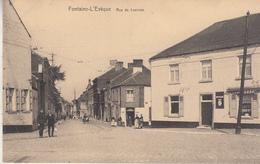 Fontaine-l' Evèque - Rue De Leernes - Animée - Bazar Du Livre, L. Daisne, Fontaine L' Evèque - Fontaine-l'Evêque