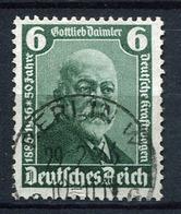 41427) DEUTSCHES REICH Plattenfehler # 604 III Gestempelt KURZBEFUND Aus 1936, 500.- € - Used Stamps