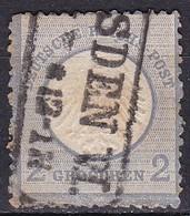 Deutsche Reich, 1872 - 2gr Ultra -  Nr.5 Usato° - Oblitérés
