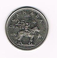 &   CANADA  25 CENTS  CENTENNIAL  1873 - 1973 - Canada