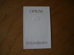 Carte YSL Opium - Perfume Cards