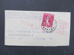 ZEITUNGSSTREIFBAND 1937 Journaux Paris - Vienne //  D*32367 - Briefe U. Dokumente