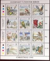 Guernsey 1990 Christmas Birds MNH - Vogels