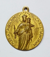 Medaglia Votiva - Anno Mariano - Pio XII (1954) Bronzo Dorato / 26mm - VATICANO - Jetons En Medailles