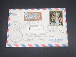 POLYNESIE - Enveloppe En Recommandé De Papeete Pour Bron En 1976 Et Retour , Affranchissement Plaisant - L 18508 - Polynésie Française
