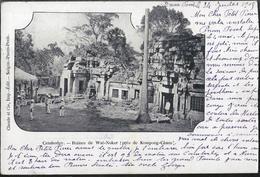 Cambodge - Ruines De Wat-Nokor (près De Kompong-Cham) (Carte Coupée) - Cambodia
