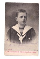 Famille Royale SAR Principe Umberto Di Savoia Aosta Di Salemi Cachet 1904 - Familles Royales