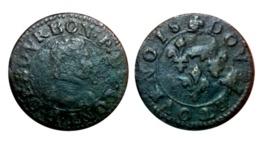 Beau Double Tournois FRANÇOIS DE BOURBON-CONTI Type 18 A VOIR!!! - 476-1789 Monnaies Seigneuriales