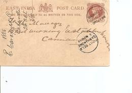 Inde Anglaise ( Entier Postal De 1885 De Calcutta Vers Cannanore à Voir) - 1882-1901 Empire