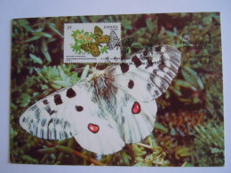 Spanje Espagne Espana 2000 Maximum Carte Papillon Vlinder Mariposas Parnassius Apollo - Butterflies