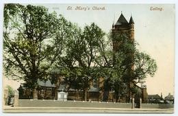 LONDON : EALING - ST MARY'S CHURCH / POSTMARK - EALING / ADDRESS - LEYTON - London Suburbs
