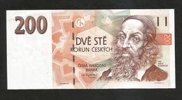 CZECH REPUBLIC / REPUBBLICA CECA - NATIONAL BANK - 200 KORUN (1998) J.A. Komensky - Tchéquie