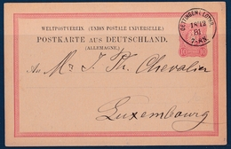 Entier Postale 1881 Oettingen - Ottange Moselle Annexion Allemande Pour Luxembourg - Other Municipalities