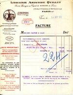 PARIS.LIBRAIRIE ARISTIDE QUILLET 109 RUE DE LILLE & 278 Blvd SAINT GERMAIN. - Imprimerie & Papeterie