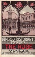 "Venezia - Albergo Ristorante Bolognese "" Tre Rose "" - - Venezia (Venice)"