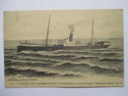 """""""  LE GARD     """"     Cie.  GENERALE TRANSATLANTIQUE   .... BORDEAUX- CASABLANCA        TTB - Steamers"""
