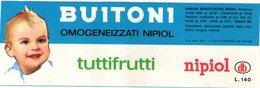 B 1925 - Etichetta, Buitoni - Fruits & Vegetables
