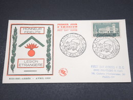 ALGÉRIE - Enveloppe FDC 1956 , Sidi Bel Abbes , Légion Étrangère - L 18536 - FDC