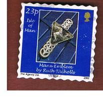 ISOLA DI MAN (ISLE OF MAN)  -   SG 1003  -   2002 MANX EMBLEM  -   USED - Isle Of Man