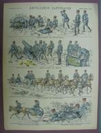 Uniformes Militaires - ARTILLERIE JAPONAISE - Imagerie D'Epinal N°828 - PELLERIN & Cie - Stampe & Incisioni