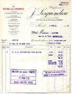 PARIS.LA REINE DES CREMES.FARDS & PRODUITS DE BEAUTE.PARFUMERIE J.LESQUENDIEU USINES A IVRY SUR SEINE. - Chemist's (drugstore) & Perfumery