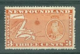 Newfoundland: 1937   Coronation Issue  SG258   3c  [Perf: 14][Die I]   MH - 1908-1947