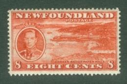 Newfoundland: 1937   Coronation Issue  SG260e   8c  [Perf: 13½]   MH - 1908-1947