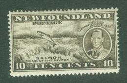 Newfoundland: 1937   Coronation Issue  SG261b   10c  [Perf: 13½]   MH - 1908-1947