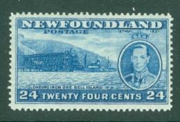 Newfoundland: 1937   Coronation Issue  SG265c   24c  [Perf: 13½]   MH - Newfoundland