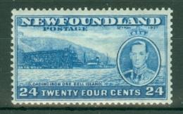 Newfoundland: 1937   Coronation Issue  SG265d   24c  [Perf: 13]   MH - Newfoundland