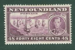 Newfoundland: 1937   Coronation Issue  SG267c   48c  [Perf: 13½]   MH - Newfoundland