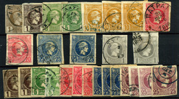 2966- Grecia Aéreos Nº 77, 79, 81/3, 55, 57/60, 63 - 1886-1901 Petits Hermes