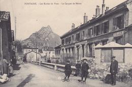 38. FONTAINE . CPA. LES ECOLES DU PONT.  ANIMATION. ANNEE 1917+TEXTE. LE CASQUE DE NERON - Grenoble