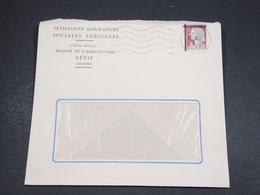 ALGÉRIE - Enveloppe De Sétif  En 1962 , Affranchissement Decaris Surchargé EA - L 18560 - Algérie (1962-...)