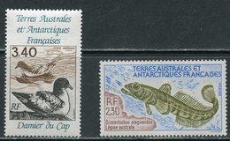 TAAF 1992 288-289. Antarctic Fauna. Pisces. Birds - Marine Web-footed Birds