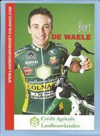 Deinze (Flandre Orientale) Bert De Waele 2 Scans Crédit Agricole Landbouwkrediet-Colnago 2009 - Cyclisme